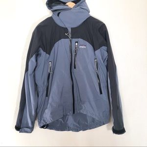 Patagonia R1 blue fleece lined soft shell jacket